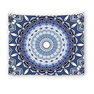 Psychedelic Mandala Pattern Multi-Use Wall Hanging Tapestry India Hippie Rectangle TableCloth Tapestries Beach Towel Picnic Mats Blanket for Home Living Room Bedroom Decor