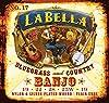 LaBella 17 La Bella Nylon 5 Stg Banjo Set  .019-.019 Classical Nylon and Silver-plated Wound-on-nylon Banjo Strings