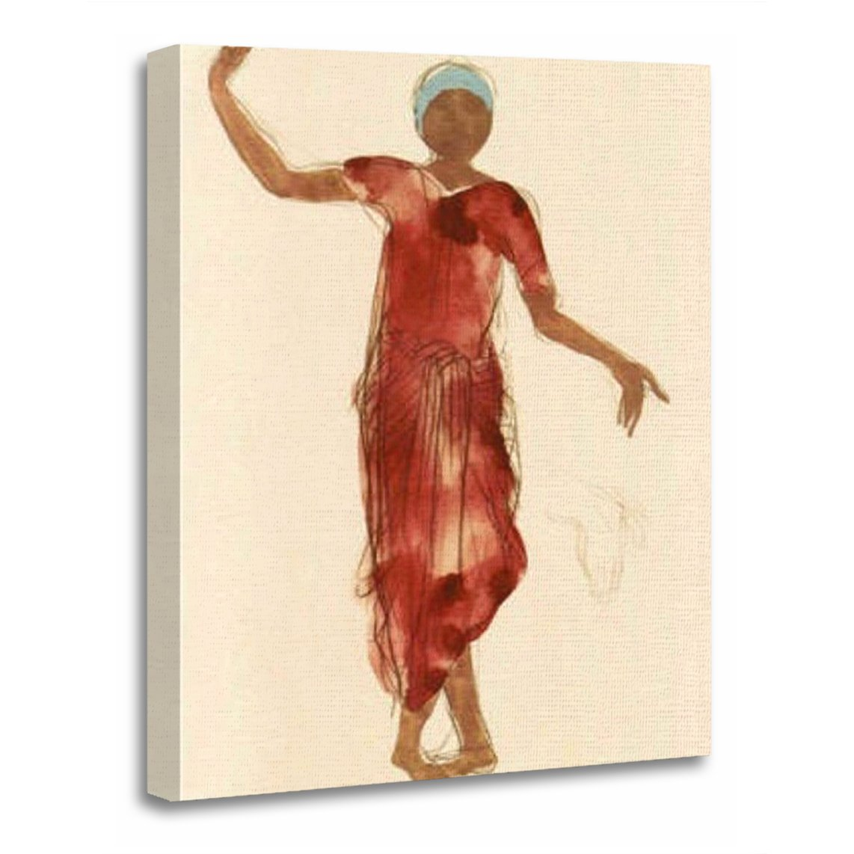 TORASS Canvas Wall Art Print Watercolors Fine Rodin's Cambodia Dancer Memorabilia Artwork for Home Decor 24'' x 32''