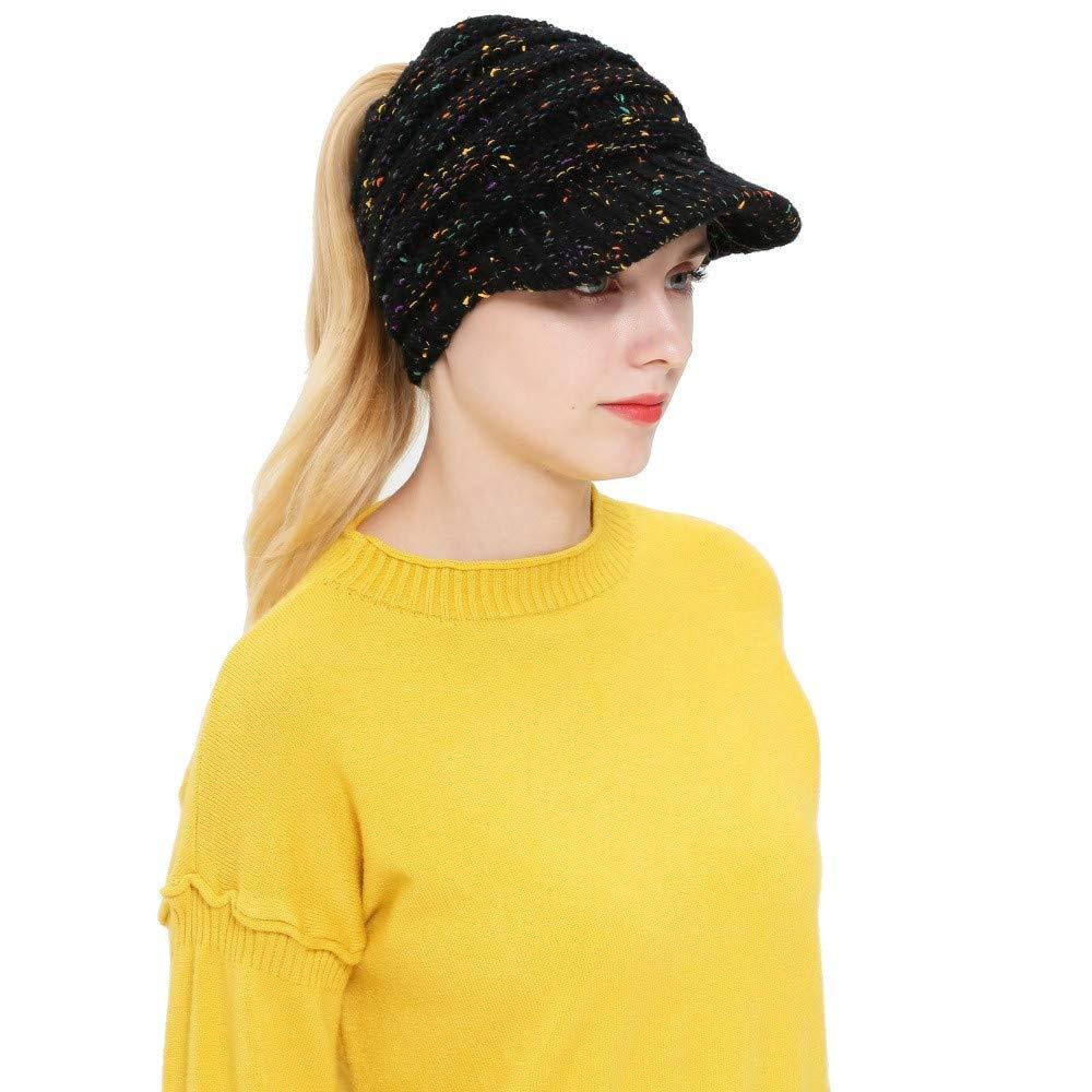 e5e56de3a18 Amazon.com  Teresamoon Women Men Autumn Winter Beanie Hat Knitting Wool  Baseball Cap Earmuffs Hat  Home   Kitchen