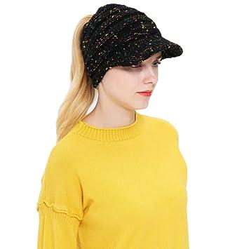 OVINEE Mujer Hombre Otoño Invierno Beanie Hat Tejer Lana Gorra de béisbol  Orejeras Sombrero 8e953071a19