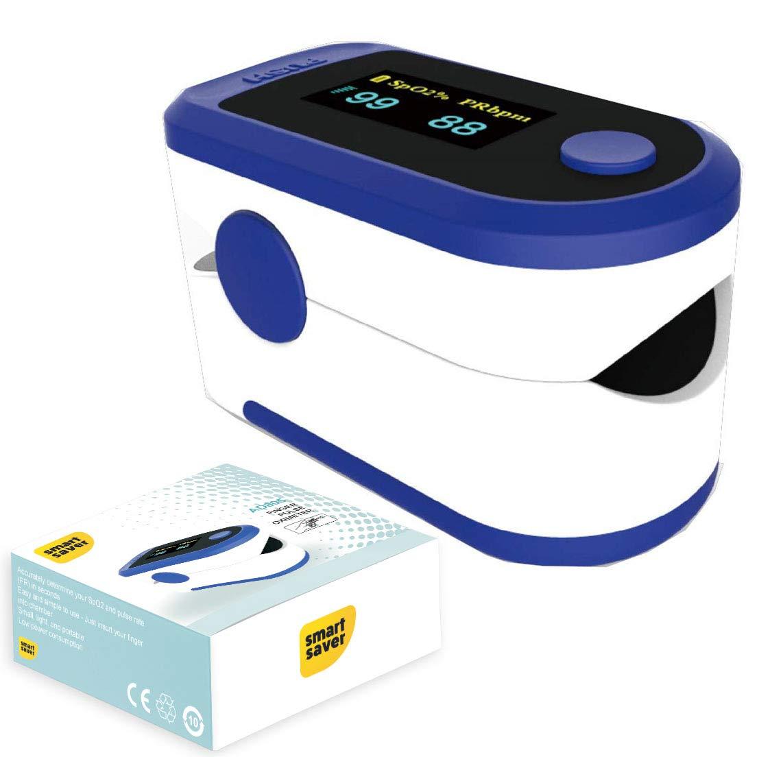 Smart SaverSky Blue Digital Finger Pulse Oximeter - Blood Oxygen Saturation Monitor - SPO2 Pulse Oximeter - Portable Oxygen Oxymeter...
