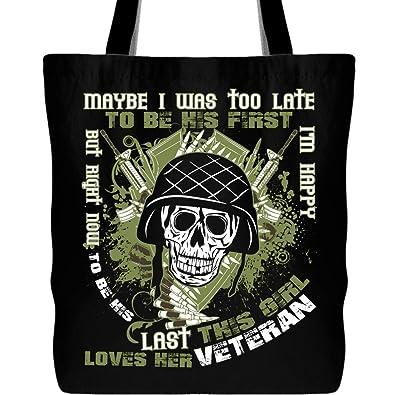 Amazon.com: Esta niña le aman su veterano bolsa con correa ...