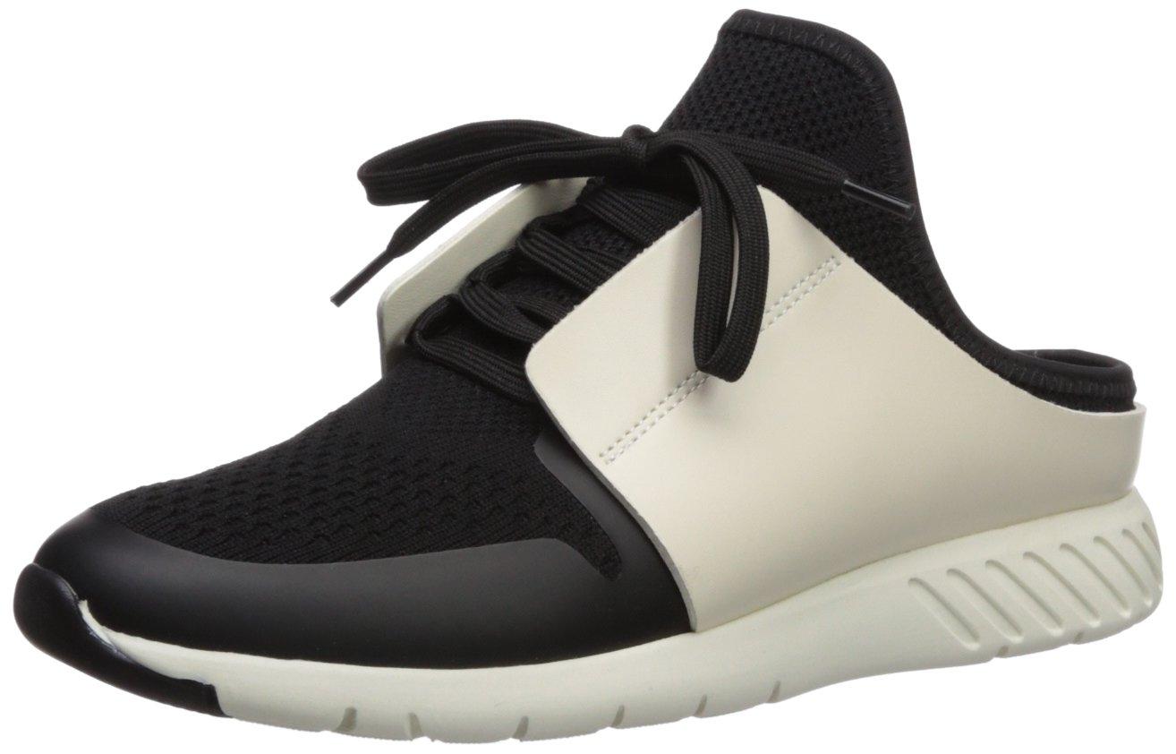 Dolce Vita Women's Braun Sneaker, Black/White Knit, 11 Medium US
