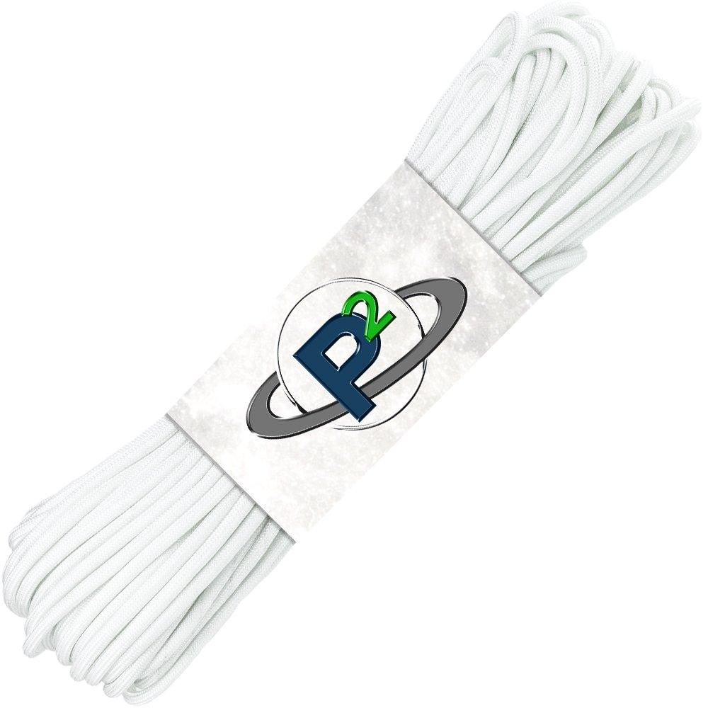PARACORD PLANET Mil-Spec Commercial Grade 550lb Type III Nylon Paracord 10 feet White by PARACORD PLANET (Image #1)