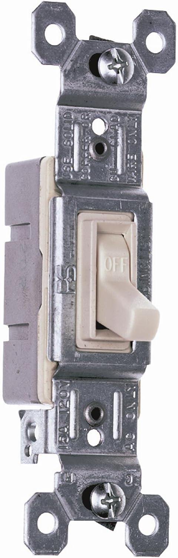 Light Almond 10-Pack Legrand-Pass /& Seymour 660LAGCP Trademaster Single Pole Switch