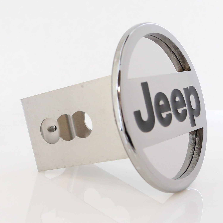 Jeep Logo Steel Tow Hitch Cover Plug Au-Tomotive Gold INC