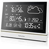 Wireless Weather Station With Outdoor Sensor DCF Receive Signal, Indoor and Outdoor Thermometer Hygrometer 7.5-Inch…
