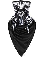 CoWalkers Mascara Motocicleta Bicicleta,Máscara esquelética del Tubo de la Cara de la máscara de la Motocicleta de la máscara del cráneo inconsútil Halloween