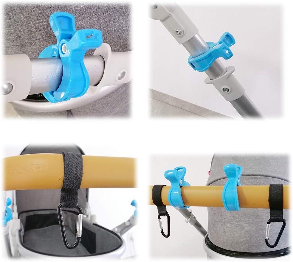 accesorios para cochecito 4 ganchos para cochecito regalo para el nacimiento del beb/é 6 clips para cochecito clips para gancho para bolsa de compras JustFine Juego de clips para cochecito