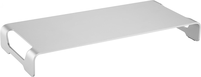 Silber 11-32 Zoll f/ür ca Bildschirmst/änder Standfuss Bildschirmerh/öhung Stand Rack Regal Lift Podest f/ür Laptop oder Notebook 28-84cm RICOO Monitor St/änder MTS-042 Aufsatz Tisch St/änder