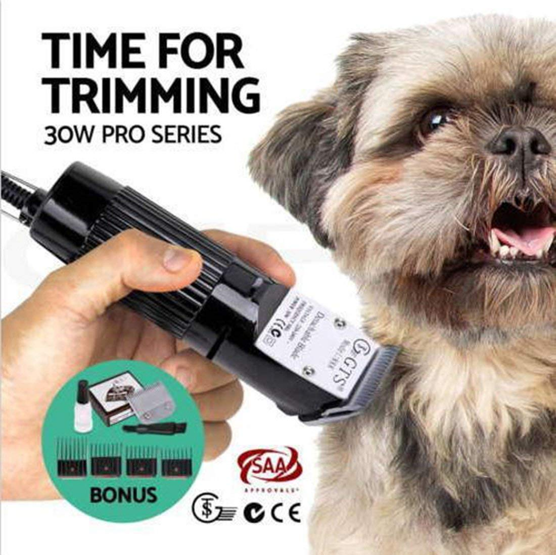 HONGHUIYU Dog Clippers Wired Professional Detachable Electric Pet Dog Cat Animal Hair Trimmer Grooming Clipper Dog Kit