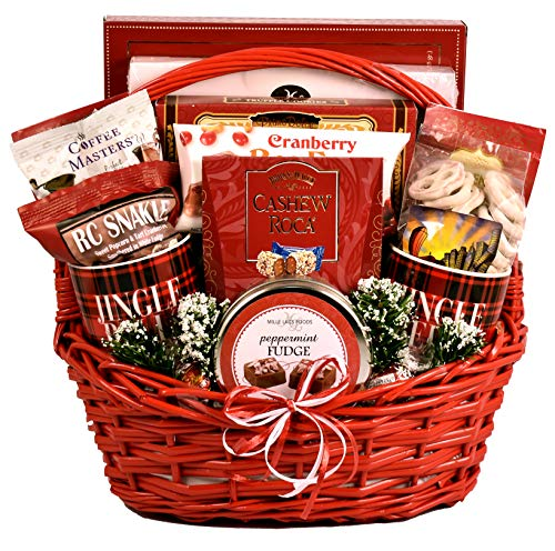 Candy Cane Lane, Holiday Gift Basket - A Festive Christmas Gift Basket In Large Red Basket With Traditional Sweet Treats ()