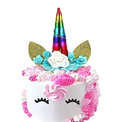 amazon com unicorn cake topper kootips unicorn happy birthday