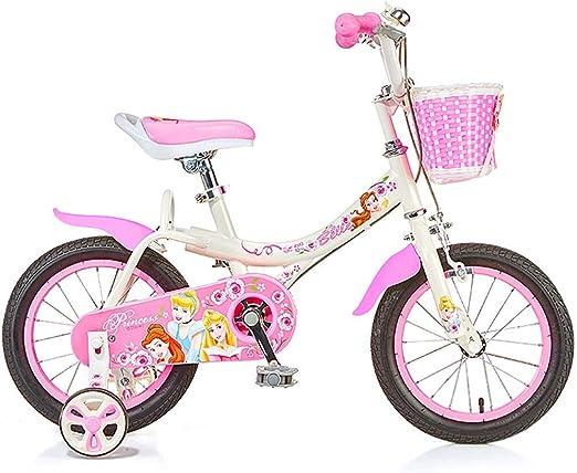 Unknow Bicicletas Bicicleta Adecuada para niña Chica Bicicleta al Aire Libre Bicicleta de Ejercicio para niña Bicicleta Linda Bicicleta Encantadora Bicicleta de 14 Pulgadas 16 Pulgadas Rosa (Color: Amazon.es: Hogar