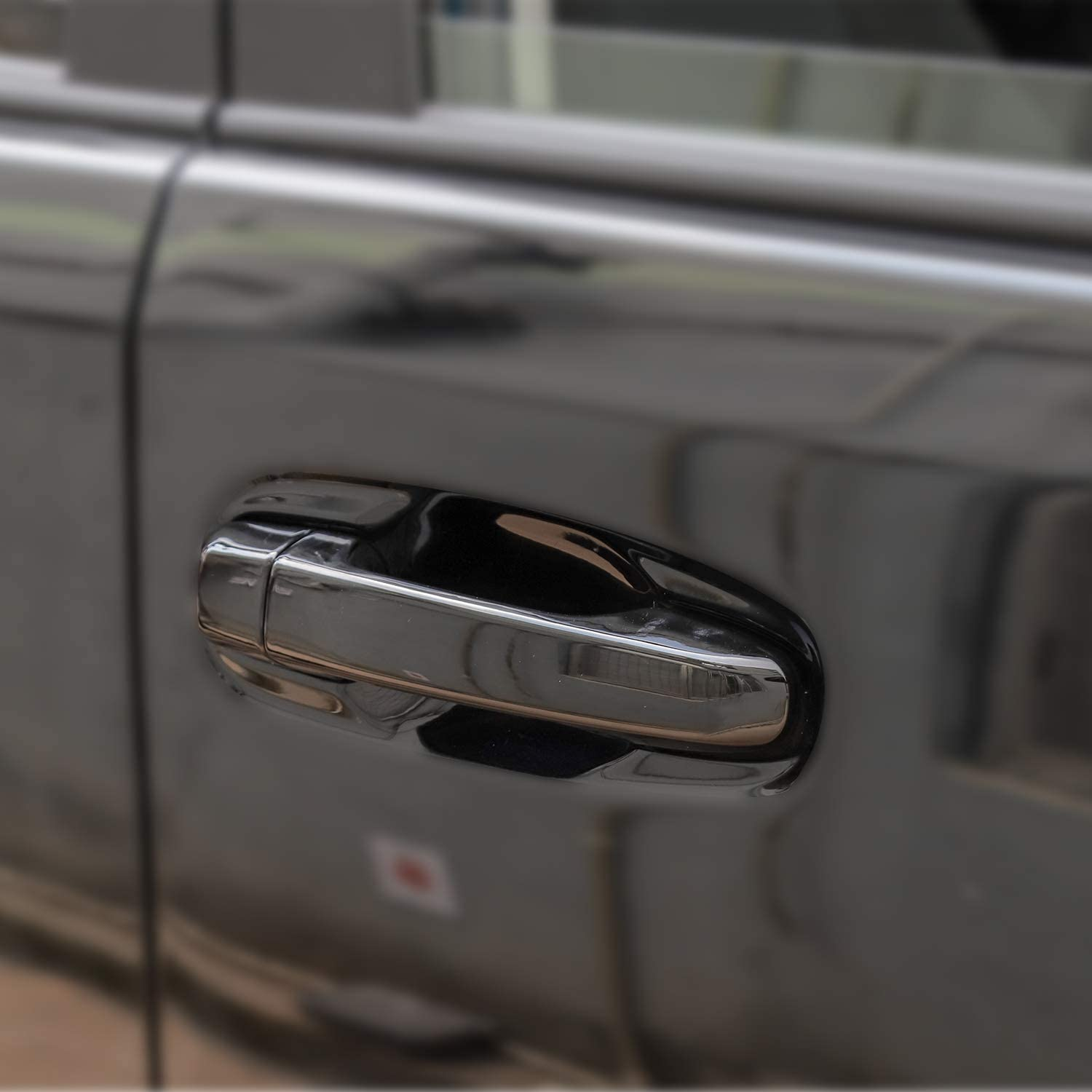 With Smart Key Holes Car Door Handle Cover Trim For Toyota 4Runner 2010-2020