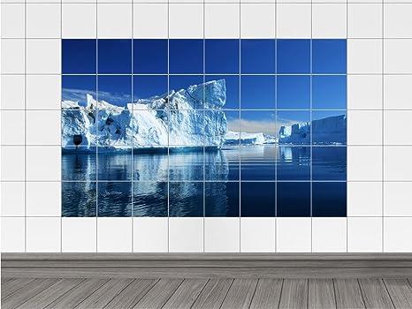 Adesivi per piastrelle mattonelle bild mare iceberg di ghiaccio