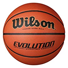 Wilson WTB0516XBEMEA Pelota de Baloncesto Evolution Cuero sintético Interior y Exterior, para Adultos, Naranja, 7
