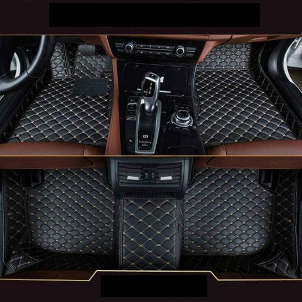 8X-SPEED Alfombra del Piso Auto Cuero para B MW 3 Series E90 E91 E92 E93 F30 F31 F35 318i 320i 325i 328i 330i 335i 320d 325d 2008-2012 4-Puertas Desgaste Antideslizante Alfombrillas Beige