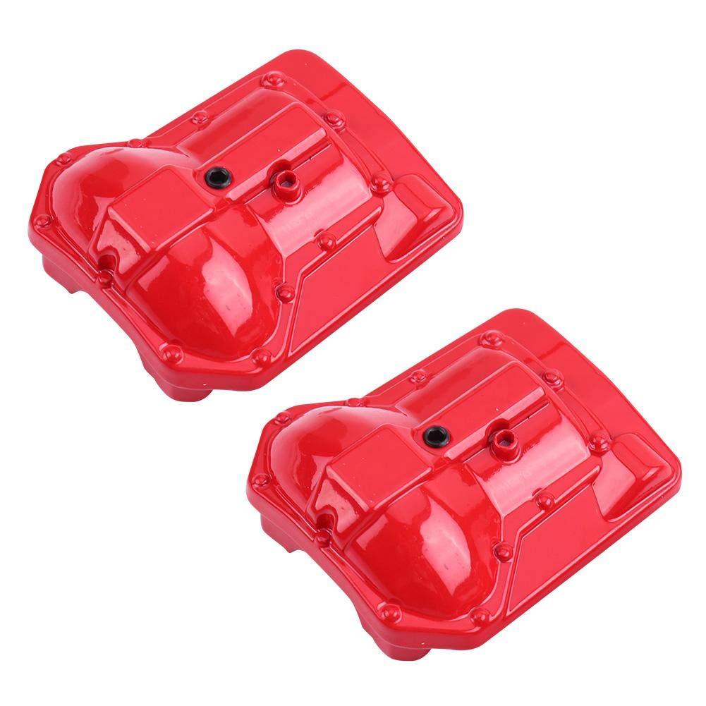 Dilwe Couvercle de Carter d/'essieu en m/étal pour essieux arri/ère Avant de Traxxas TRX4 1//10 RC Crawler Red