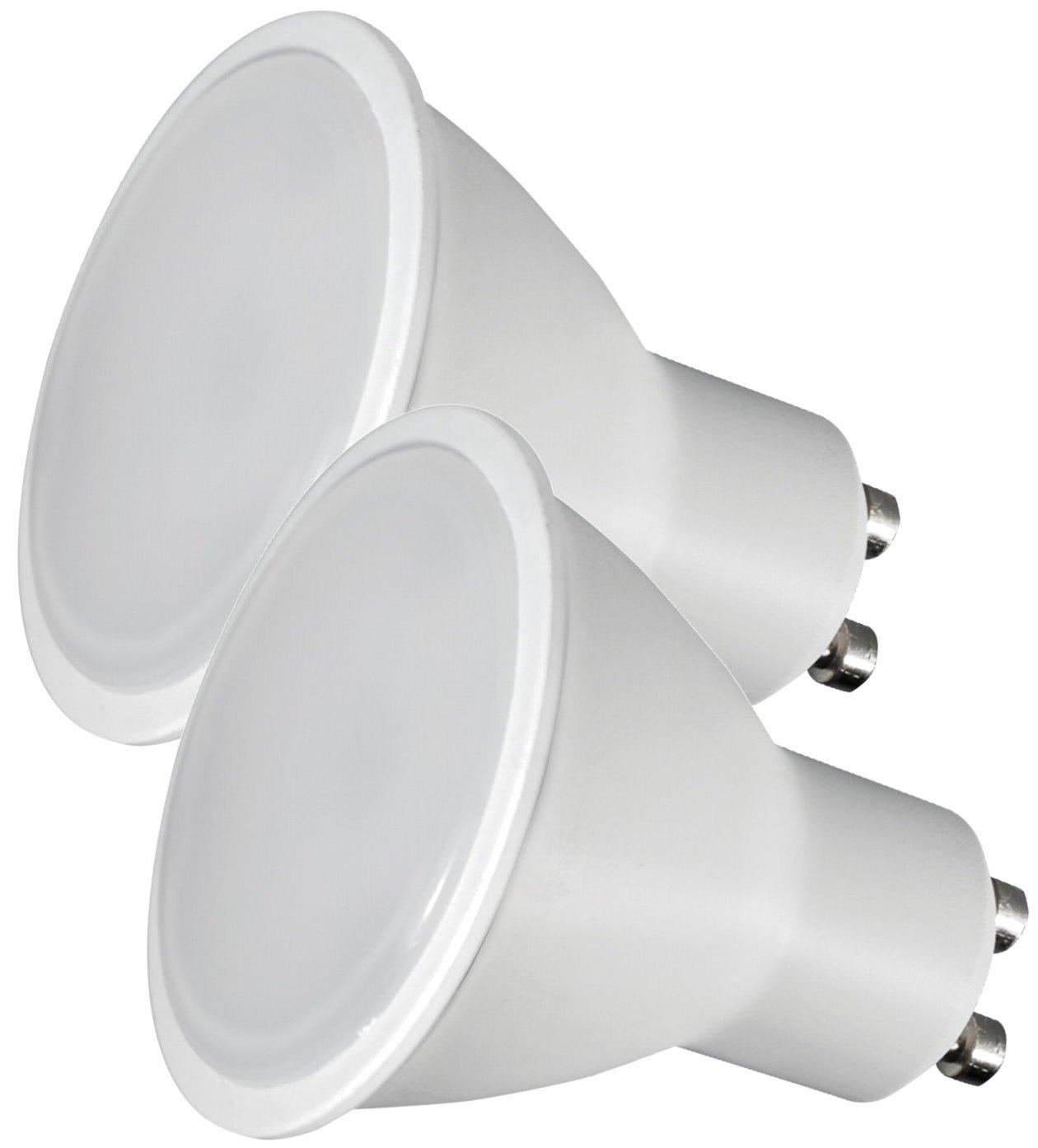Lot de 2–Ampoule Spot LED GU107W–500LM 120°–Couverture de tapis–Blanc chaud (3000K)