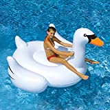 Swimline Giant Inflatable Ride-On 75-Inch Swan Float For Swimming Pools, 90621, New, Free Shipping