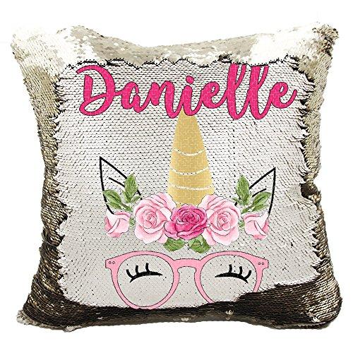 Amazon.com: verafide, reversible almohada de lentejuelas de ...