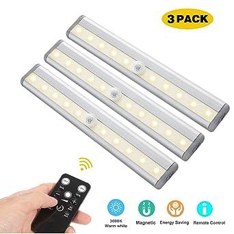 LED Unterbauleuchten, 3 Pack Fernbedienung Küche unter Kabinett ...