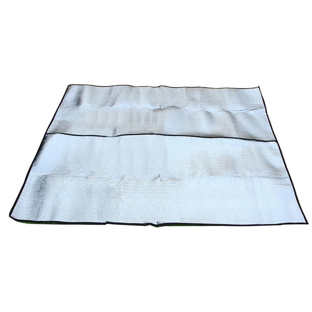 Axiba Outdoor stuoia di Picnic Impermeabile a Doppia Faccia Opaco Impermeabile Picnic in Alluminio Coperta 200x200cm stuoia strisciante di Campeggio Mat