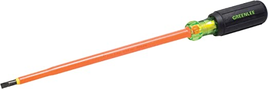 Greenlee 0153-22-Ins 3//16-Inch by 6-Inch Insulated Cabinet Tip Screwdriver
