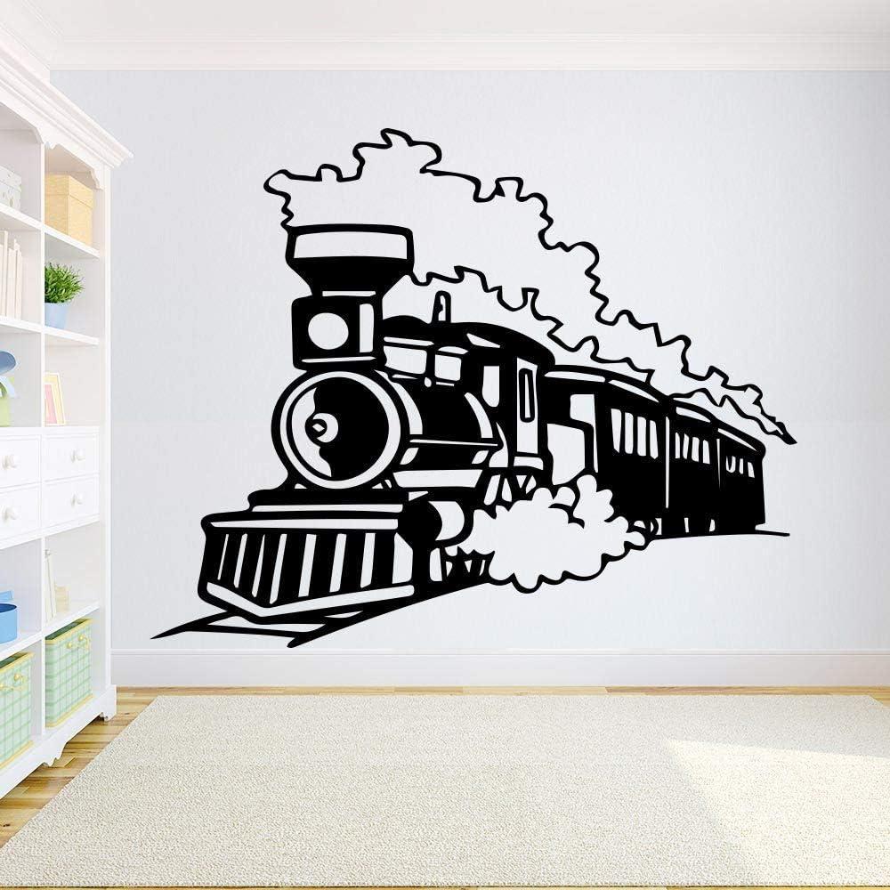 YuanMinglu Calcomanía de Pared de Locomotora de Tren Habitación de ...