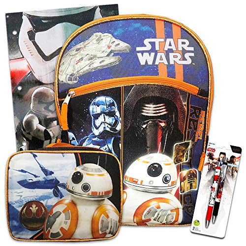 Star Wars Backpack, Lunch Box and School Supplies (Star Wars Back To School Set)]()