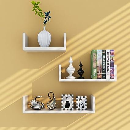 Amazon.com: Decorative wall book shelf ,Wall mount corner shelf set ...