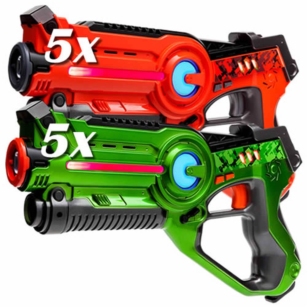 Laser Tag Set - 10x Light Battle Active Lasertag Spielzeug Pistole - 5x Grün, 5x Orange - LBAP11012