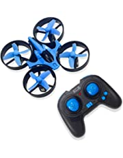 RCtown Mini Drone for Kids and Beginners, 2.4GHz 4CH Remote Control Nano Quadcopter with Altitude Hold, Headless Mode, 3D Flips, One Key Return (Blue)