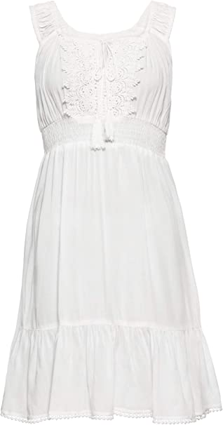 Bonprix Charmantes Boho Kleid Mit Verzierungen Fur Damen Amazon De Bekleidung