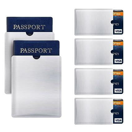 6 Fundas Card RFID NFC Protector Protectores Para Tarjetas de Crédito Protector para Tarjetas de Identificación