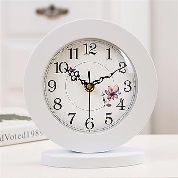 Reloj de sobremesa Modernos creativos Adornos Colgantes habitación Tranquila, Reloj de cabecera F: Amazon.es: Hogar