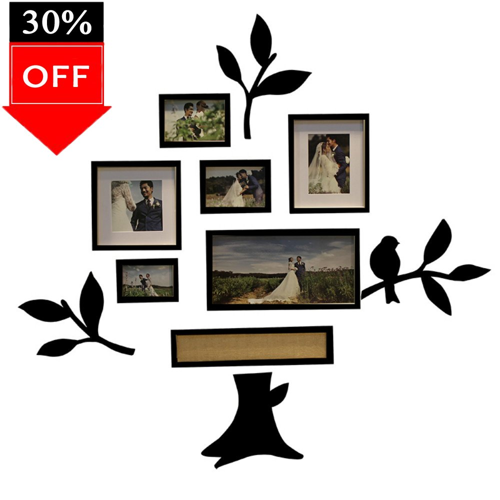 Amazon luoyiman photo wall collage frame family tree wall amazon luoyiman photo wall collage frame family tree wall stickers 3dblack jeuxipadfo Image collections