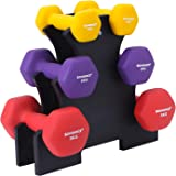 SONGMICS ダンベル 2個セット 1kg 2kg 3kg 4kg 5kg カラーダンベル 握りやすい 筋トレ 肩こり解消 軽量