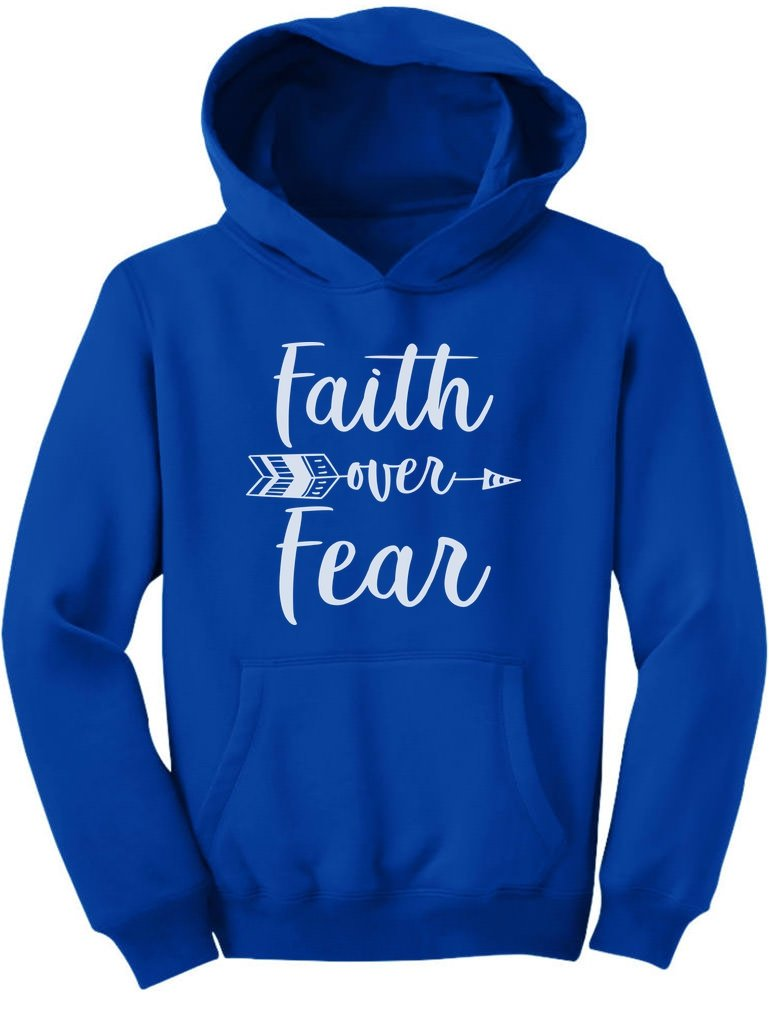 Tstars – Faith Over Fear Christian Fashion Gifts Youth Hoodie