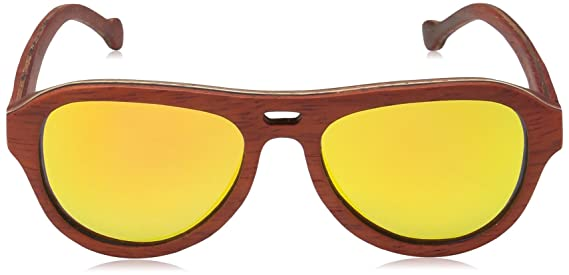 02e4f4a05516 Amazon.com  Earth Wood Clearwater Wood Sunglasses Polarized Aviator ...