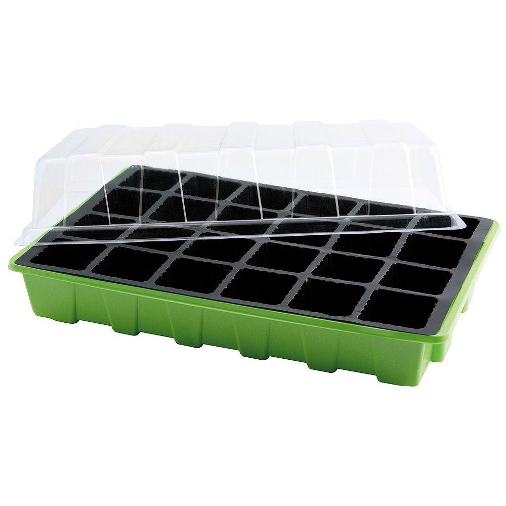 Semillero Invernadero 24 Compartimentos Con Bandeja Anti Goteo Sets De 3 Piezas: Amazon.es: Jardín