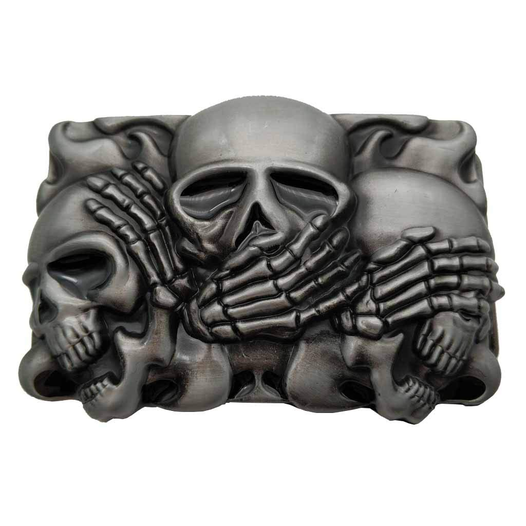 Rock Punk Skull Belt Buckle 1-ONE