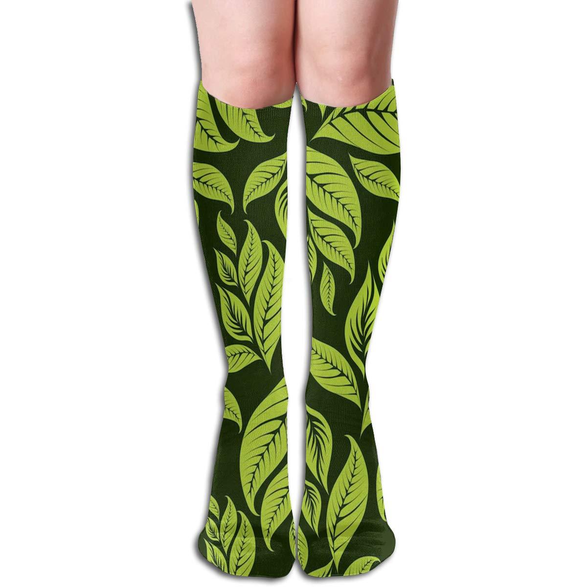 Girls Socks Over Knee Japanese Pine Tree Stripe Winter Fabulous For Holiday