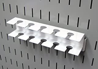product image for Wall Control Pegboard Slotted Tool Holder Bracket Slotted Metal Pegboard Accessory for Wall Control Pegboard and Slotted Tool Board – White