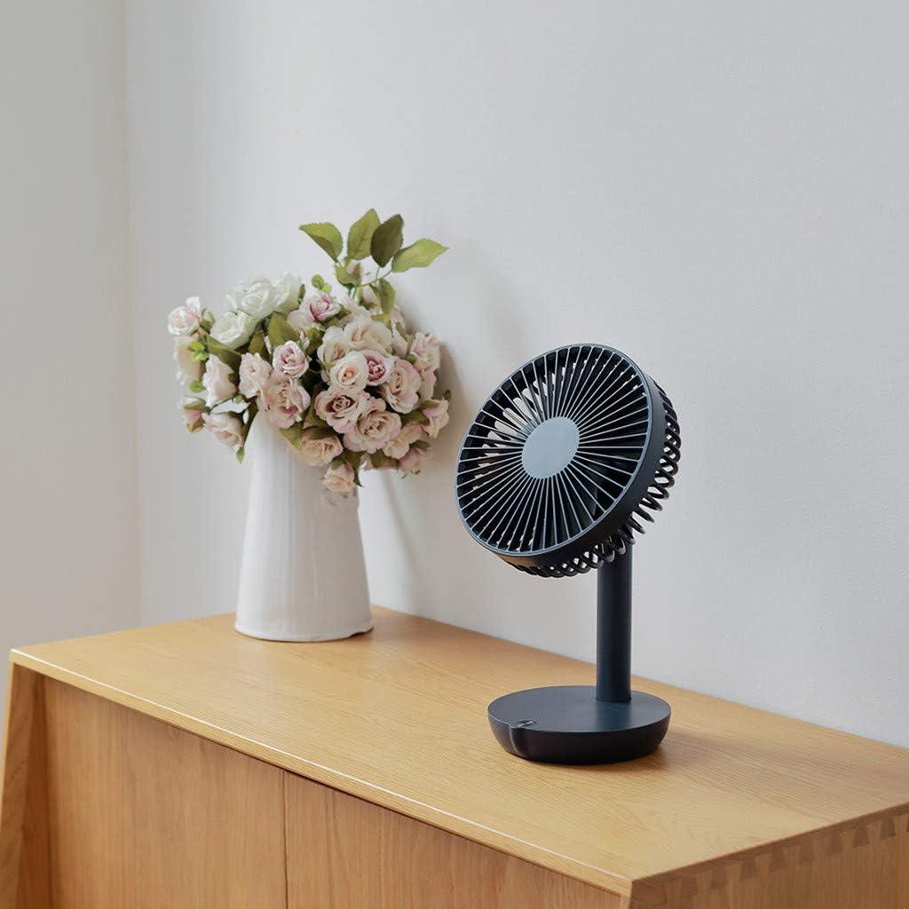 LARNOR Protable Fan USB Mini Electric Fan Table Fan 5-Speed Wind Adjustable 170x138x270mm. White, 170x138x270mm