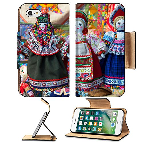 National Russian Costumes (MSD Premium Apple iPhone 7 Flip Pu Leather Wallet Case IMAGE ID: 35210251 linen doll in Russian national dress)