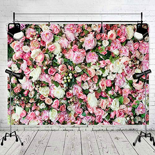 - Art Studio 3D Flower Photo Background Pink Rose Photography Backdrop for Pictures Newborn Bridal Shower Birthday Party Banner Decor Supplies Vinyl Photo Studio Props 7x5FT