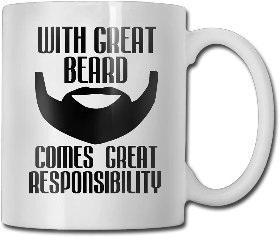 With Great Beard Comes Great Responsibility Coffee Mug Funny Personalised